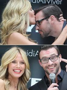Heidi Klum bekam in Melbourne männliche Unterstützung von Moderator Kris Smith