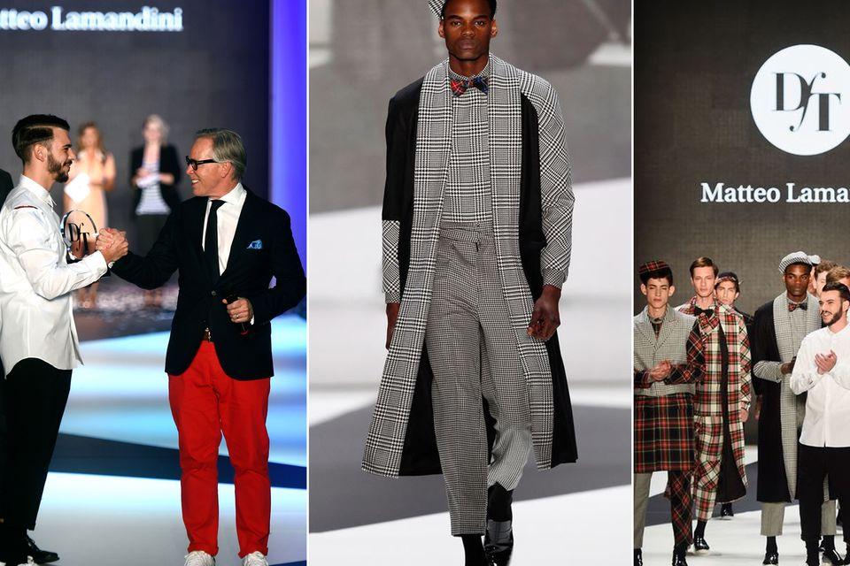 Designer for Tomorrow-Awards: Welcher talentierte Modedesigner oder welche innovative Nachwuchsdesignerin wird in die Fußstapfen von Matteo Lamandini treten, dem Designer- und Jurymitglied Tommy Hilfiger im Juli 2014 zur eigenen Show auf der Fashionweek Berlin gratulierte?