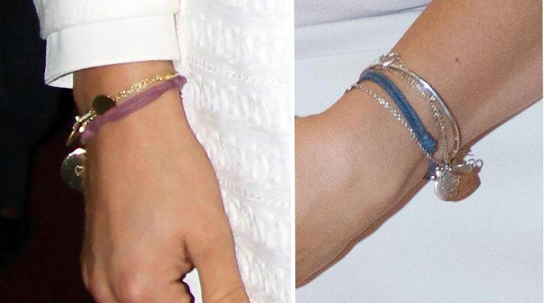 Das linke Armband ziert das Handgelenk von Prinzessin Madeleine, das rechte das von Prinzessin Victoria. Die Farbe und die Anhänger unterscheiden sich, beide Schwestern haben aber echte Liebesbotschaften eingravieren lassen.