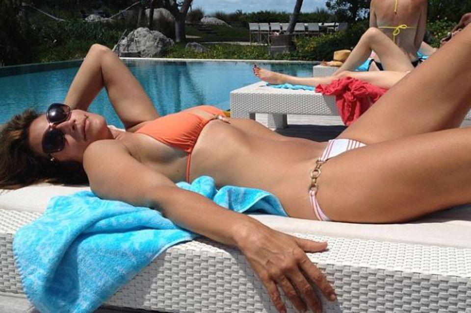 Momentaufnahmen eines stolzen Ehemannes: Rande Gerber postete dieses Bild seiner Ehefrau Cindy Crawford. Auch mit beinahe 49 Jahren sieht das Supermodel noch unglaublich fit und straff aus.