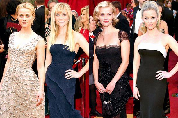 Reese Witherspoon zeigt ihre vergangenen Oscar-Outfits