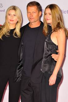 Til Schweiger mit seinen Töchtern Luna und Lilli