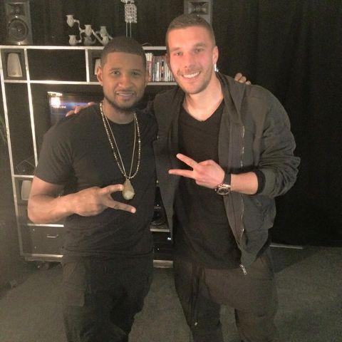 Usher + Podolski: Neue Männerfreundschaft?