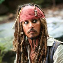 "Johnny Depp als ""Captain Jack Sparrow"""