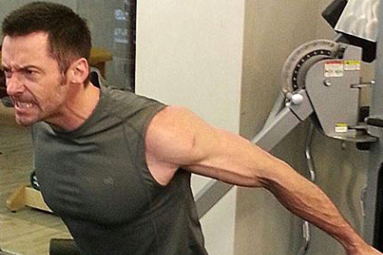 Hugh Jackman beim Training.