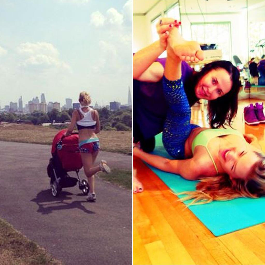 Ob Joggen mit Söhnchen Bingham oder Stretching mit Trainerin Nicole Stuart: Kate Hudson ist gerne in Bewegung und liebt Abwechslung.