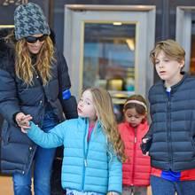 Sarah Jessica Parker mit ihren Kindern Marion, Tabitha und James