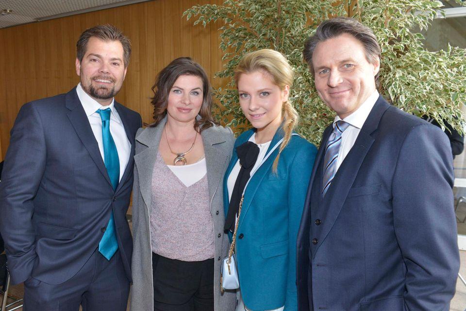 Daniel Fehlow, Anne Brendler, Valentina Pahde und Wolfgang Bahro (v.l.n.r.).