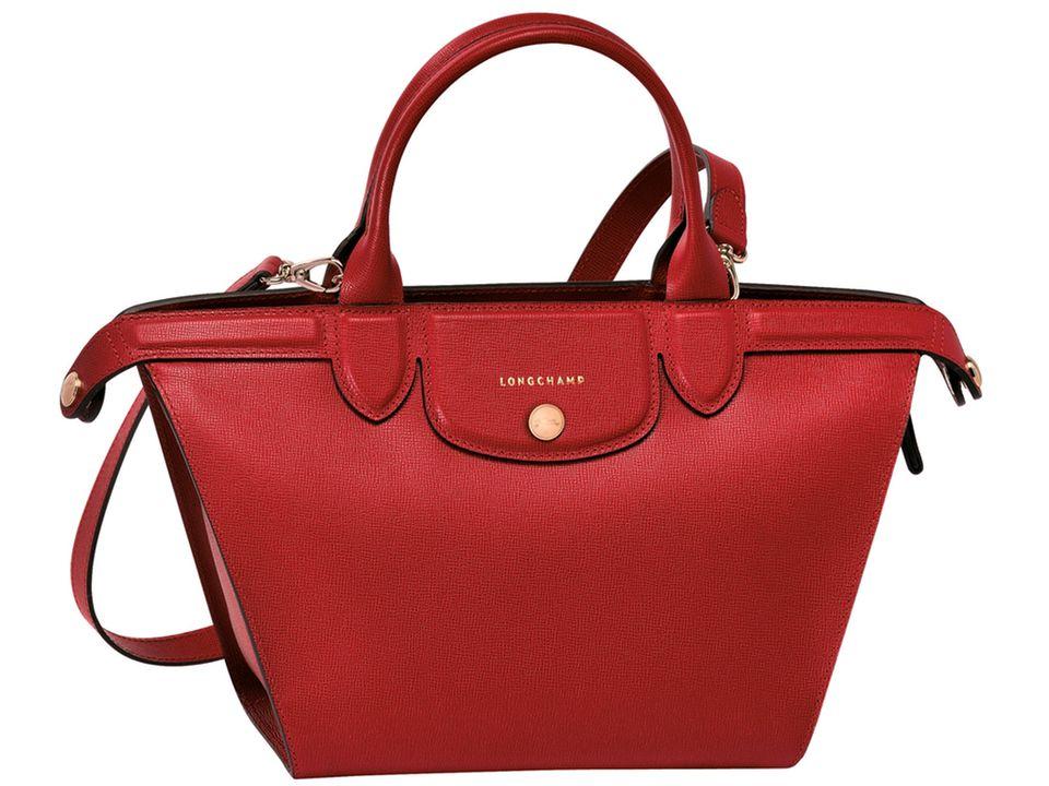 """Hier ist die Tasche von Katie Holmes: """"Pliage Héritage"""". Der Look ist an den ursprünglichen Shopper angelehnt, das Material aber Leder statt Nylon (ab 780 Euro)"""