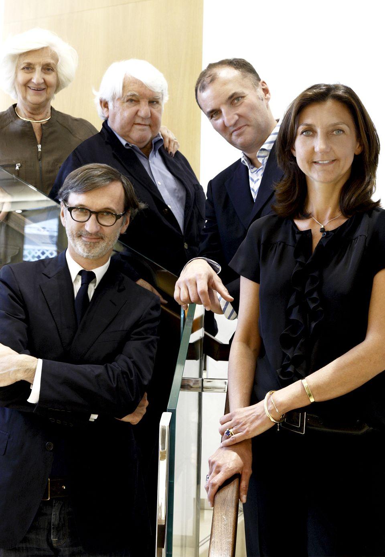 Sie geben der Luxusmarke Gesicht und Seele: hinten die Elterngeneration Michèle und Philippe Cassegrain, vorn die Kinder Jean, Olivier und Sophie