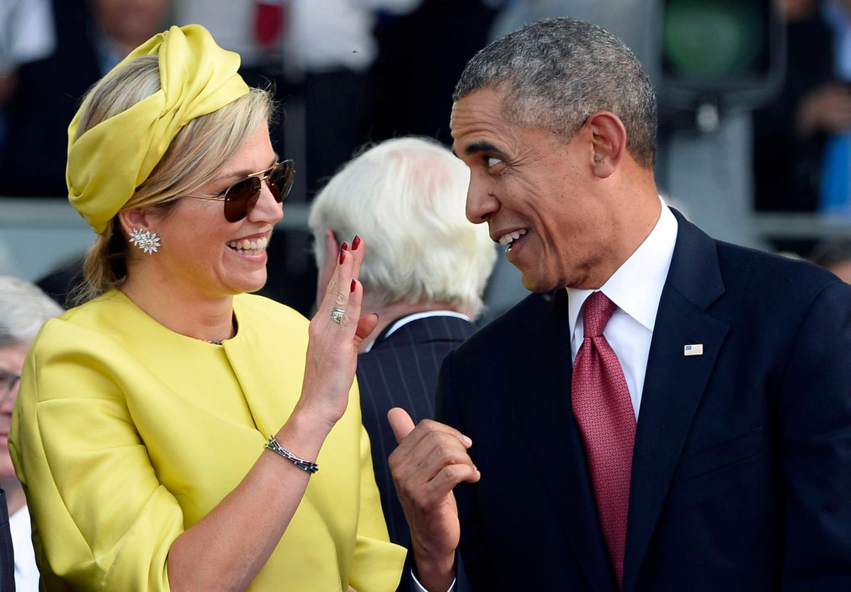 US-Präsident Barack Obama und Königin Máxima scheinen sich gänzend zu verstehen.