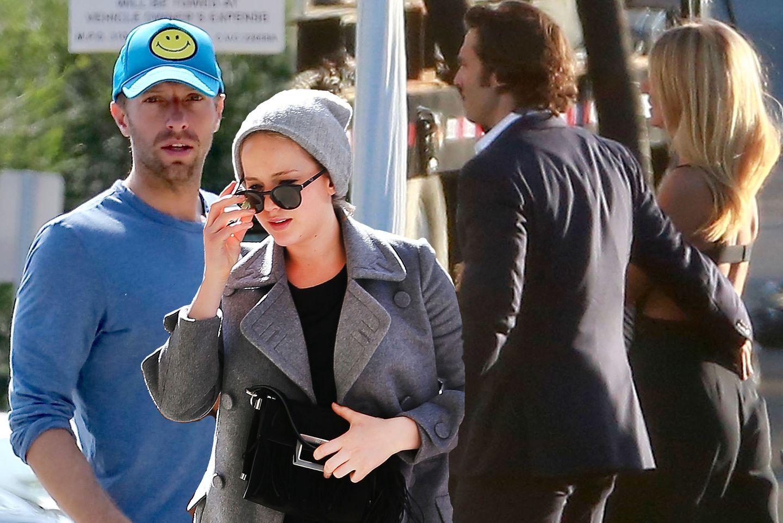 Chris Martin, Jennifer Lawrence, Brad Falchuk und Gwyneth Paltrow