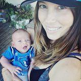 Jessica Biel mit Baby Silas