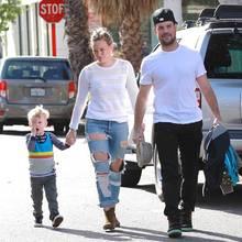 Hilary Duff und Mike Comrie mit Sohn Luca