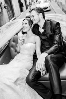 Nazan Eckes und Julian Khol heirateten im Juni 2012 in Florenz.