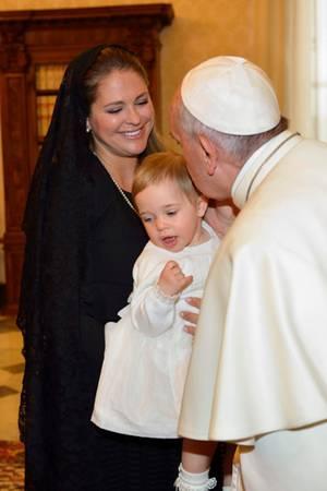 Prinzessin Madeleine, Prinzessin Leonore, Papst Franziskus, Königin Silvia
