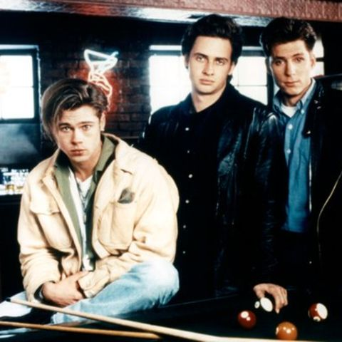 Brad Pitt, links, Nicholas Kallsen, zweiter v. links