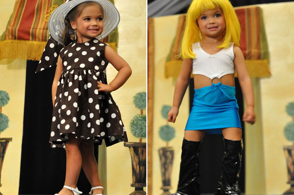 """Dieses kleine Mädchen ist erst drei Jahre alt - und verkleidet sich als Prostituierte """"Vivian"""" aus dem Kultfilm """"Pretty Woman""""."""