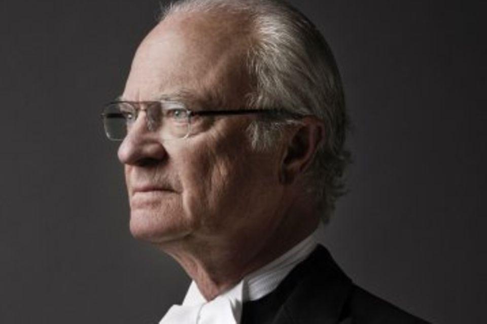 Offizielles Porträt von Schwedens König Carl XVI. Gustaf