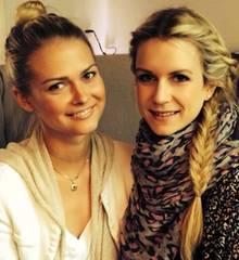 GNTM-Halbfinalistin Darya mit GALA-Redakteurin Janina Kirsch.