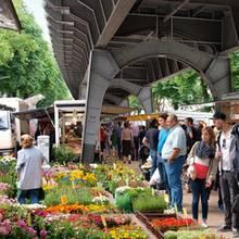 Isemarkt in Harvestehude.