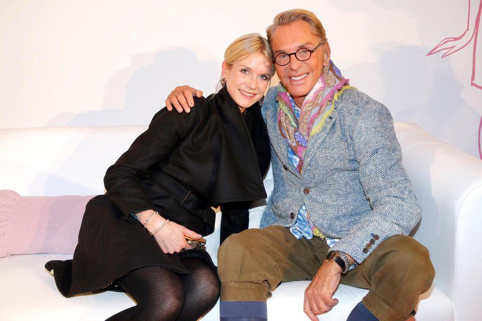 Wolfgang Joop und GALA-Redakteurin Janina Kirsch.