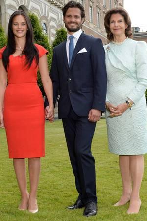 Sofia Hellqvist, Prinz Carl Philip + Königin Silvia