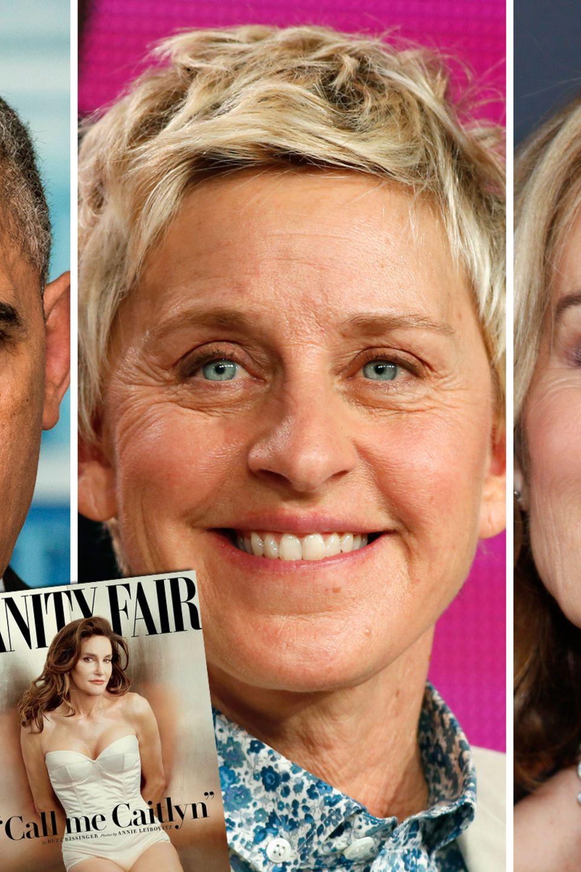 Barack Obama, Ellen DeGeneres, Jessica Lange, Caitlyn Jenner