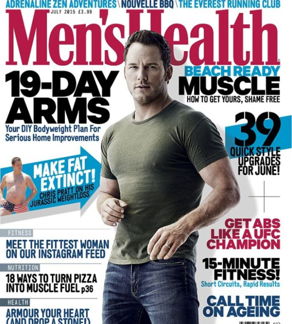 """Chris Pratt zeigt sich in der aktuellen Ausgabe der amerikanischen """"Men's Health"""" so durchtrainiert wie nie"""
