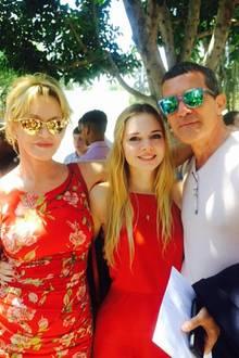 Melanie Griffith, Stella Banderas, Antonio Banderas