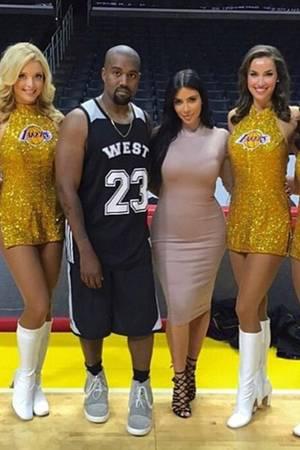 Kanye West, Kim Kardashian und LA-Lakers-Cheerleader