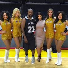 Kanye West, Kim Kardashian und LA-Lakers-Cheerleader