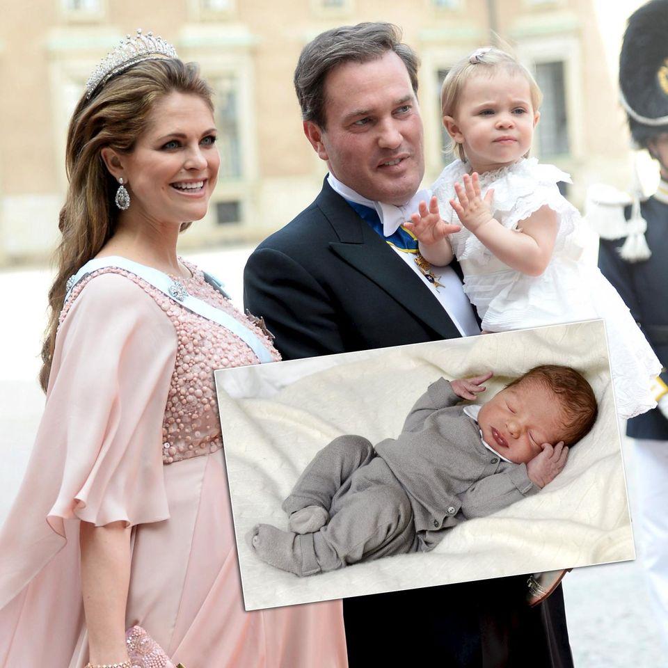 Prinzessin Madeleine, Chris O'Neill und ihre beiden Kinder