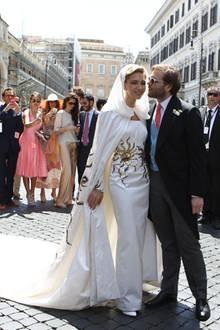 Sabine Ghanem und Joseph Getty heiraten in Rom.