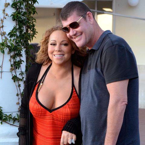 """Das neueste Mitglied im """"Billionaires Club"""". Mariah Carey. Die Pop-Diva hatte schon immer einen Hang zu allem, was glitzert und funkelt, jetzt hat sie sich auch noch in einen Milliardär verliebt. Der neue Mann an ihrer Seite ist James Packer, ein australischer Unternehmer."""