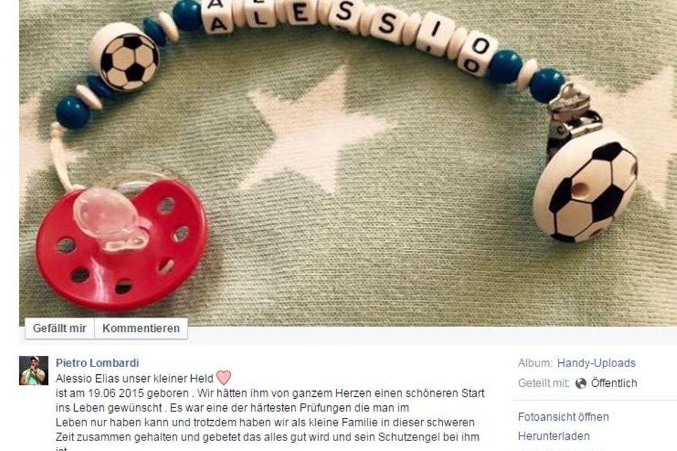Pietro Lombardi Facebook
