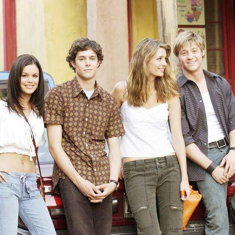 Summer Roberts (Rachel Bilson), Seth Cohan (Adam Brody), Marissa Cooper (Mischa Barton) und Ryan Atwood (Benjamin McKenzie)