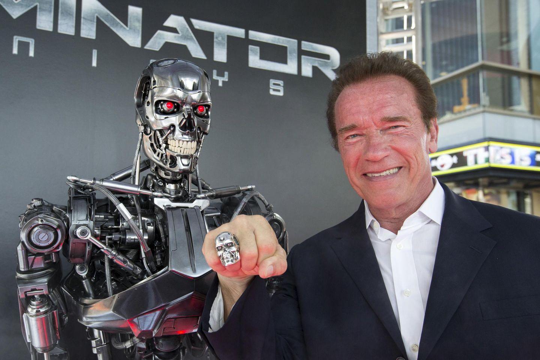 """Arnold Schwarzenegger bei der Premiere von """"Terminator: Genisys"""" in Berlin."""