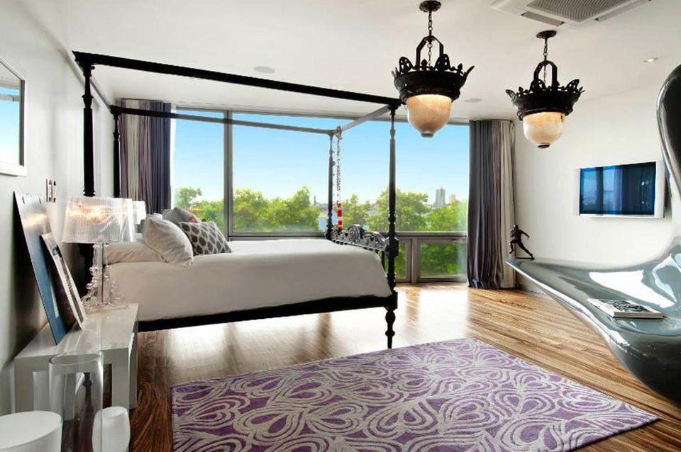 Das Hauptschlafzimmer: Hier könnten Heidi Klum und Vito Schnabel romantische Nächte verbringen.
