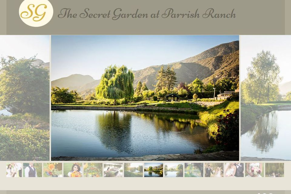 """Naturbelassen und idyllisch: Im """"Secret Garden"""" der """"Parrish Ranch"""" sollen sich Mila Kunis und Ashton Kutcher geheiratet haben."""