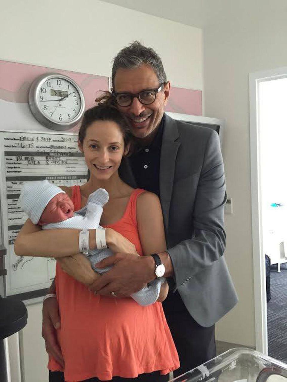 Jeff Goldblum, Emilie Livingston und Baby Charlie Ocean