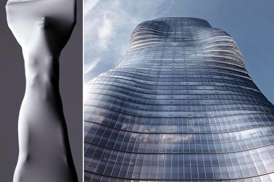 """Die erotische Tanzdarbietung im Video zu """"Ghost"""" und die heißen Kurven von Beyoncé Knowles sind die Inspiration für den """"Premier Tower"""", der in Melbourne errichtet werden soll."""