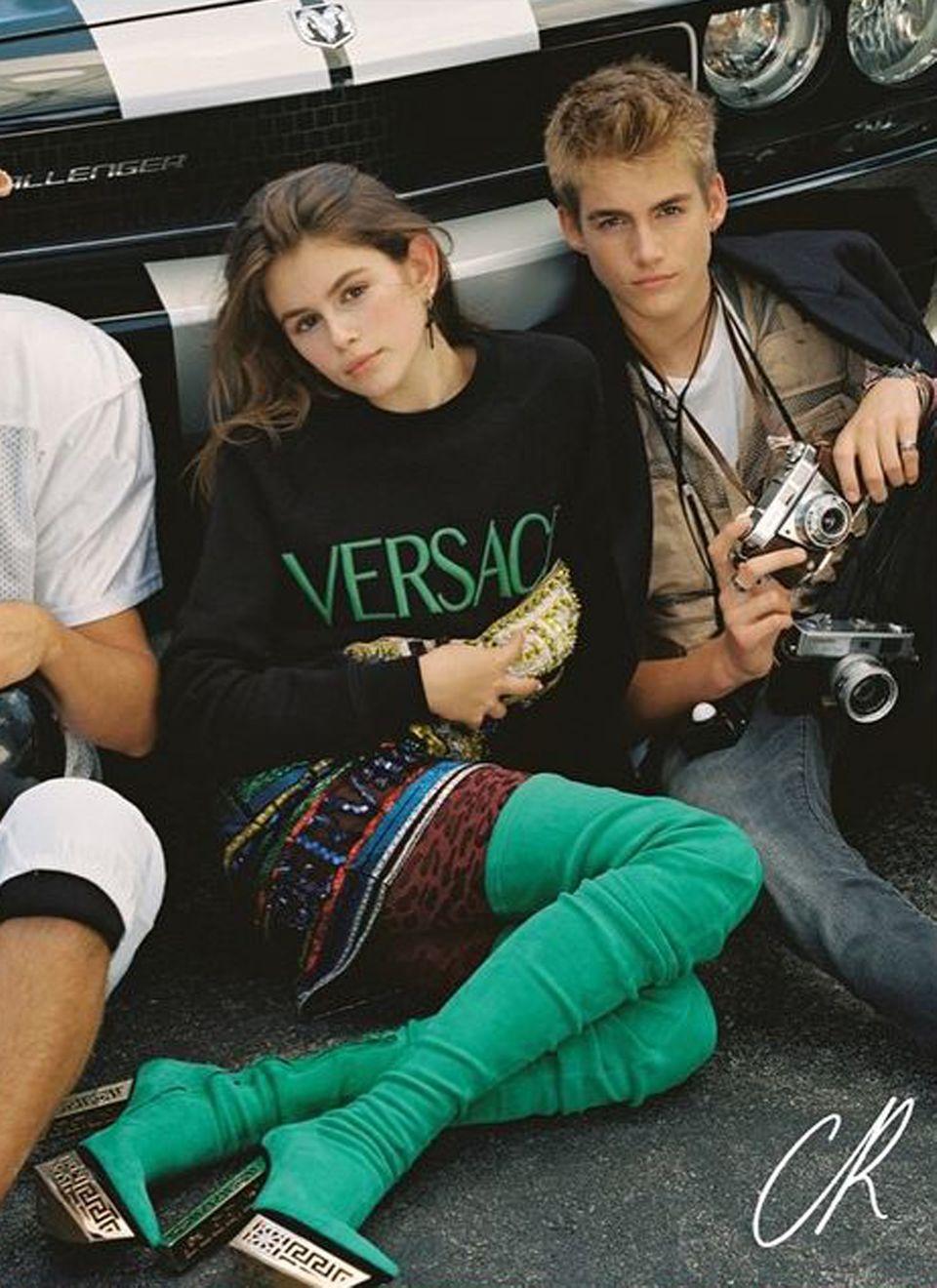 Kaia und Presley Gerber