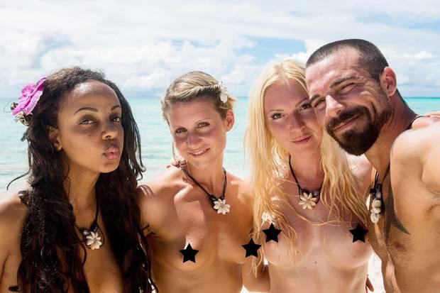 (v.l) Bahati, Beatrix, Jeannina und Gaetano