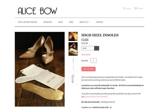Einlegesohlen von Alice Bow