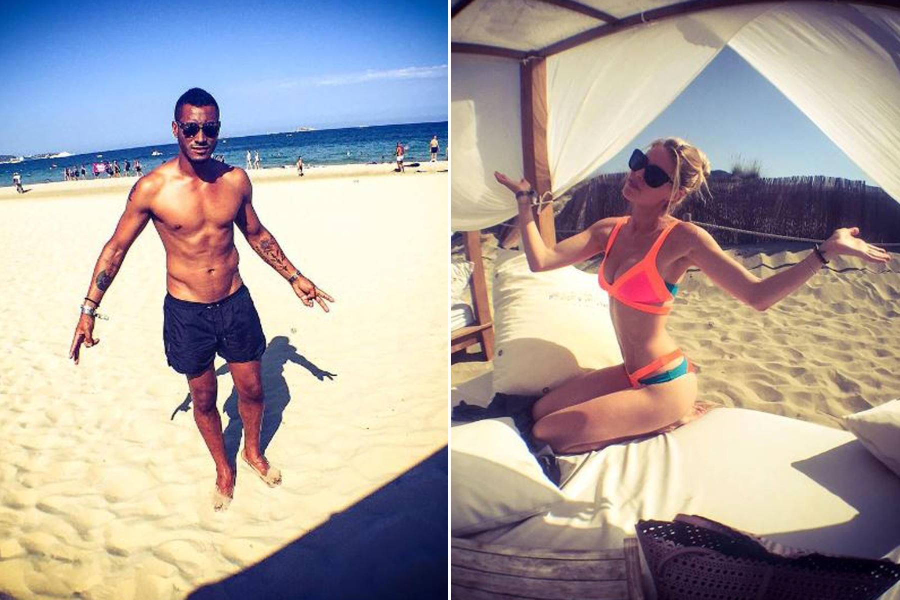 DJ Sunnery James und Topmodel Doutzen Kroes lassen es sich am Strand von Ibiza gut gehen.