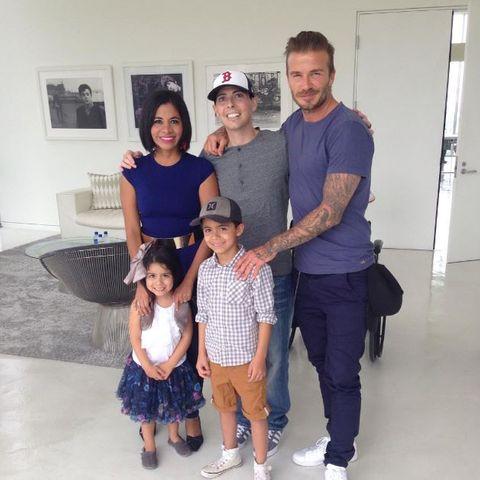 David Beckham erfüllt einem krebskranken Fan seinen größten Wunsch.