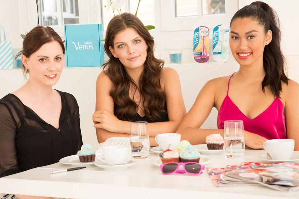 Gala.de-Redakteurin Kathrin traf die beiden Gillette Venus Models Vanessa Fuchs und Anuthida Ploypetch zum Beauty-Talk in Hamburg.