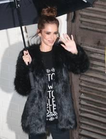 """12. Dezember 2015: Besorgniserregend dürr zeigt sich die britische """"X-Factor""""-Jurorin Cheryl Fernandez-Versini."""