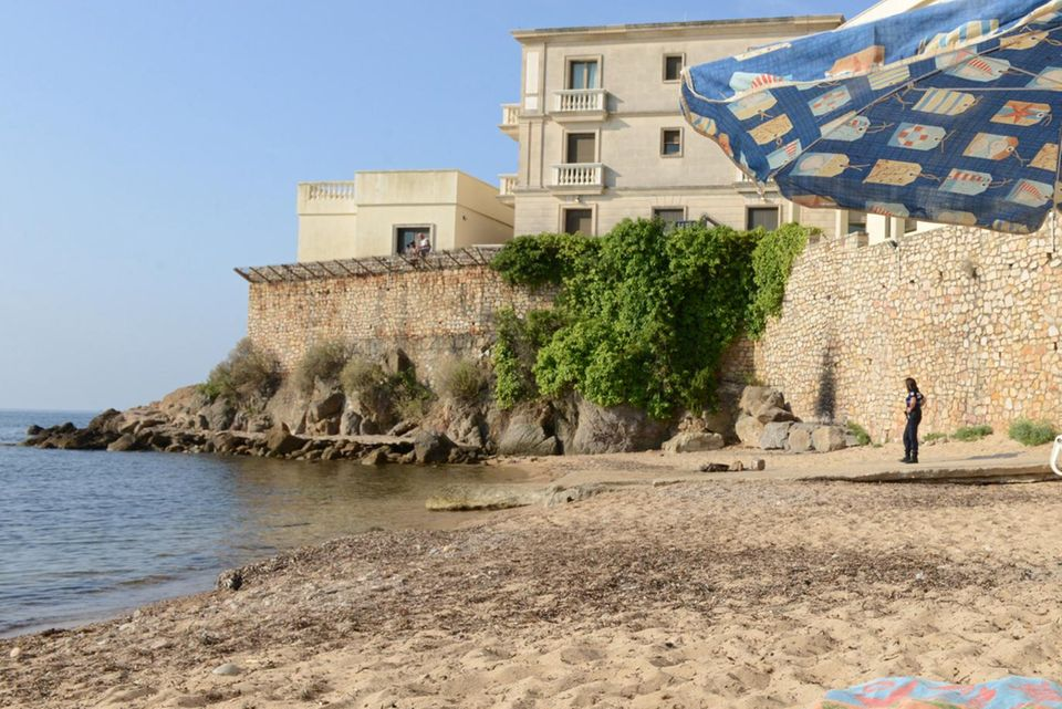 "Der umstrittene Strand ""La Mirandole"""